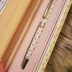 kate spade Office - Kate Spade Silver Dots Ballpoint Pen
